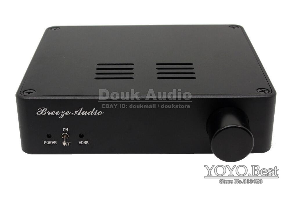 Douk Audio TDA7498E Class D HiFi Stereo Digital Amplifier High-power Audio Amp 160Wx2 Black Free Shipping(China (Mainland))