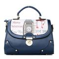 Retro England Style Imported PU Handbag Fashion Print Women Shoulder Bag Ladies Cheap Korean Trend Shoulder