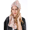2015 Women Fashion Brand Cheap Crochet Pink Gray Ring Infinity Scarves Knitted Wool Pom Pom Winter