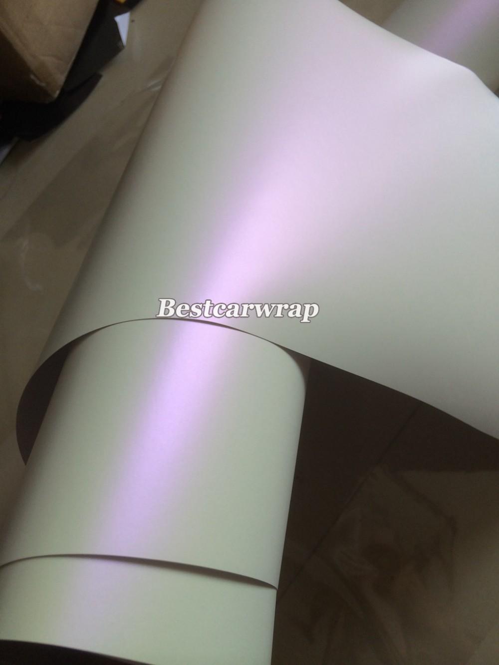 pearl Matt white chameleon white-purple vinyl wrap (2)