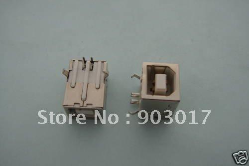 Female USB Socket Right Angle PCB Connector 4 pin  BF90 1000 pcs per lot