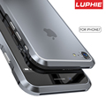 Original Luphie Metal Bumper Case For iPhone 7 Cover Luxury Aviation aluminum CNC Frame Cover For