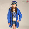 New fashion brand children thin down jackets kids outerwear hoodie girls long coat kids winter clothes