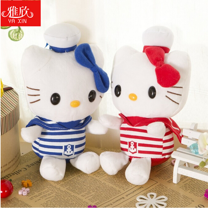 2015 new the Navy clothing kitten plush toys 2 color optional free shipping gifts to share(China (Mainland))