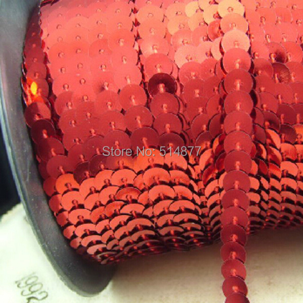 30Y Red Beautiful Sequins Ribbon Trim Craft Sewing Trimming New SE012(China (Mainland))