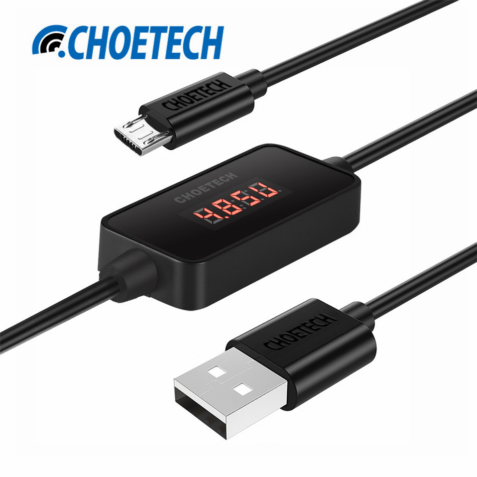 CHOE 1m Micro USB Cable with LCD Current Voltage Monitor,USB A to Micro USB Cable for Huawei,Xiaomi,Samsung Mobile Phone Cable(China (Mainland))