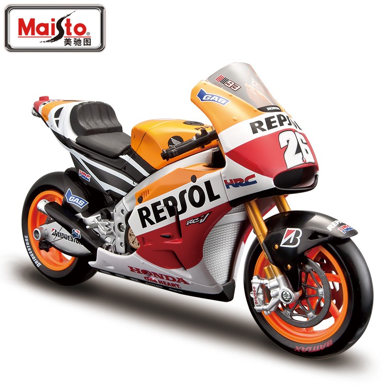 Maisto 1/10 Scale Motorbike Model Toys Honda Repsol RC213V MotoGP Racing Diecast Metal Motorcycle Toy New In Box For Gift(China (Mainland))