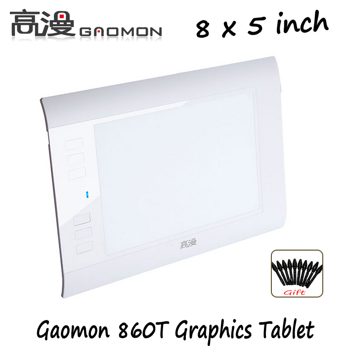 """Factory Promotion Gaomon 860T 8"""" Graphics Digital Tablet Painting Tablets Professional Drawing Tablet For Mac Windows OS White(China (Mainland))"""
