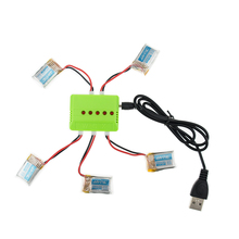 5pcs H8 mini RC Lipo RC Battery 3.7V 150mAh Batteria With 5in1 Green Charger Set For JJRC Quadcopter Airplane Drone Spare Part