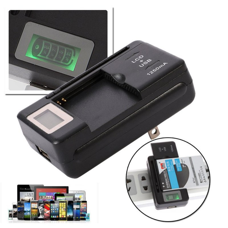 USB Charger Multi-function LCD Universal Battery Charger LCD Display Genuine Original Phone Charger