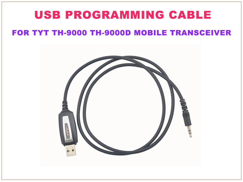 USB PC Programming Cable w/ software CD Driver for TYT Tytera TYT Tytera  TH-9000 TH-9000D Mobile Transceiver