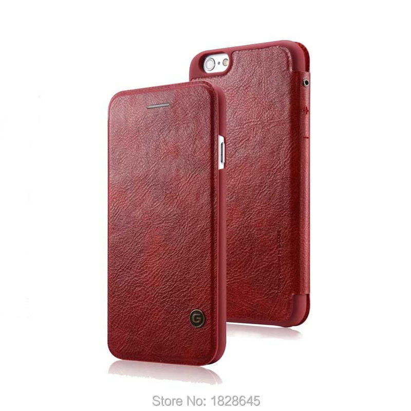 G-CASE Luxury Original Leather Flip Case Cover For Apple iPhone 6 Plus 5.5 With Card Wallet