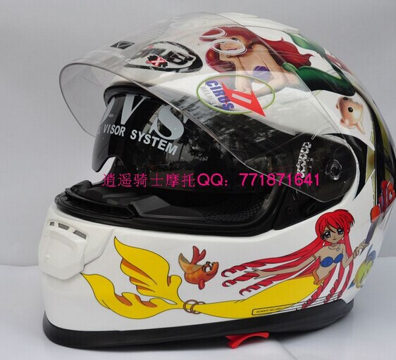 Free shipping HJC helmet full dual lens, CIRUS motorcycle helmets HS-800, mermaid(China (Mainland))