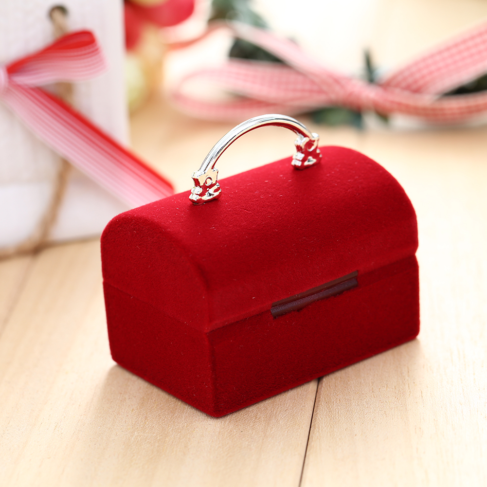 New Fasion Beautiful Velvet Bag Earrings Rings Necklace Coin Flocking Gift Box Case Holder Storage Good Quality(China (Mainland))