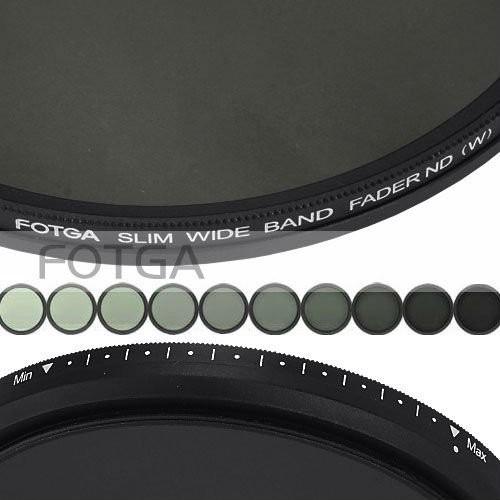 FOTGA Slim fader ND 77mm  filter adjustable variable neutral density ND2 to ND400 for DALR camera DVD DC