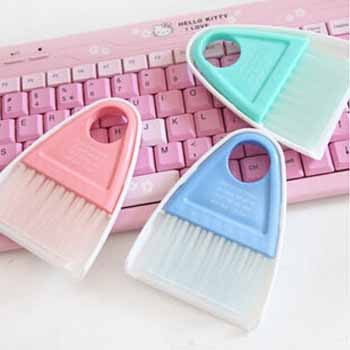 Hot sweep Creative Desktop computer keyboard cleaning dust brush small broom dustpan broom suit even brush shovel(China (Mainland))