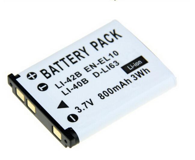 1PCS 3 7V 800mAh LI 40B LI40B LI 40B LI 42B EN EL10 Digital Replacement Camera