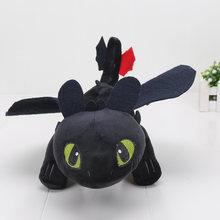 Filme 3 Brinquedos de Pelúcia boneca de brinquedo Como treinar O Seu Dragão Fúria Da Noite Desdentado Stormfly Meatlug Stuffed Animal Dolls como caçoa o presente(China)