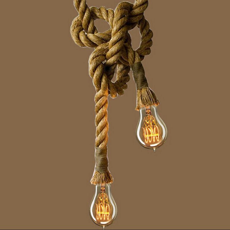 Rustic Lighting Rope Pendant Light Rope Light Wood Beam: Creative-Loft-Industrial-Toronto-Manila-3M-Rope-Ceiling
