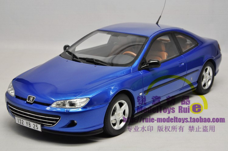 1:18 OTTO Peugeot 406 Coupe coupe blue car model<br><br>Aliexpress