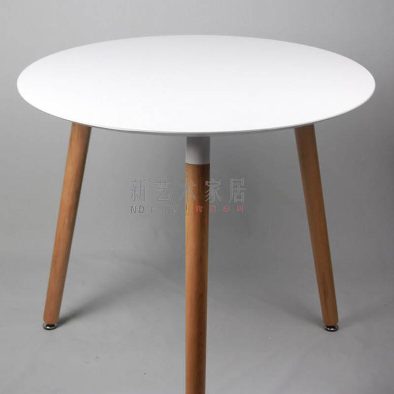 Table Solid Wood Dining Table Small Round Conference Table