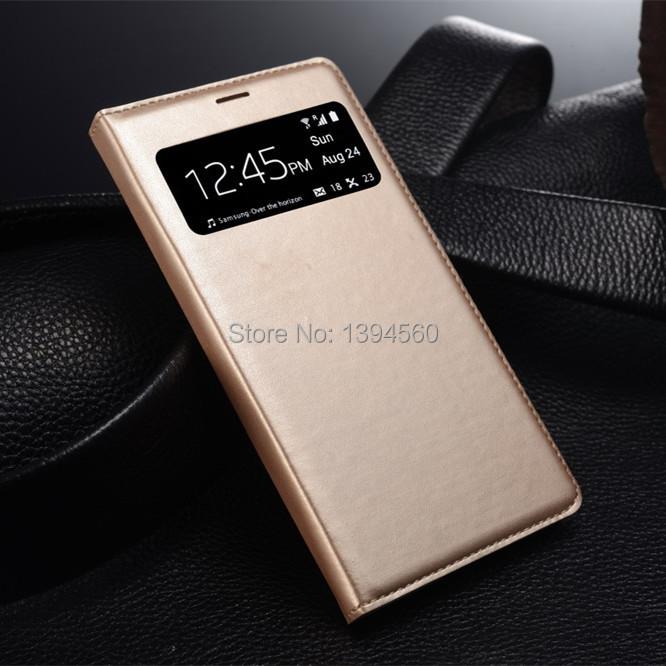 Гаджет  Dormancy Function Automatic Power On/Off Display For Samsung Galaxy S4 SIV i9500 S View Window Flip Cover Leather Case None Телефоны и Телекоммуникации