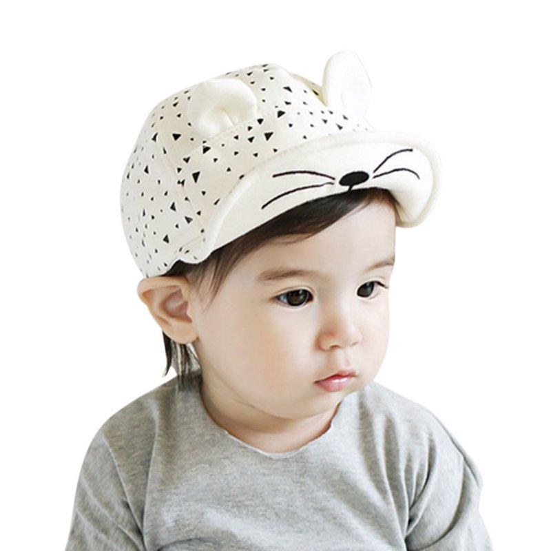 Toddler Kids Baby Beret Kitten Visor Baseball Cap Casquette Cotton Peaked Hat S01(China (Mainland))