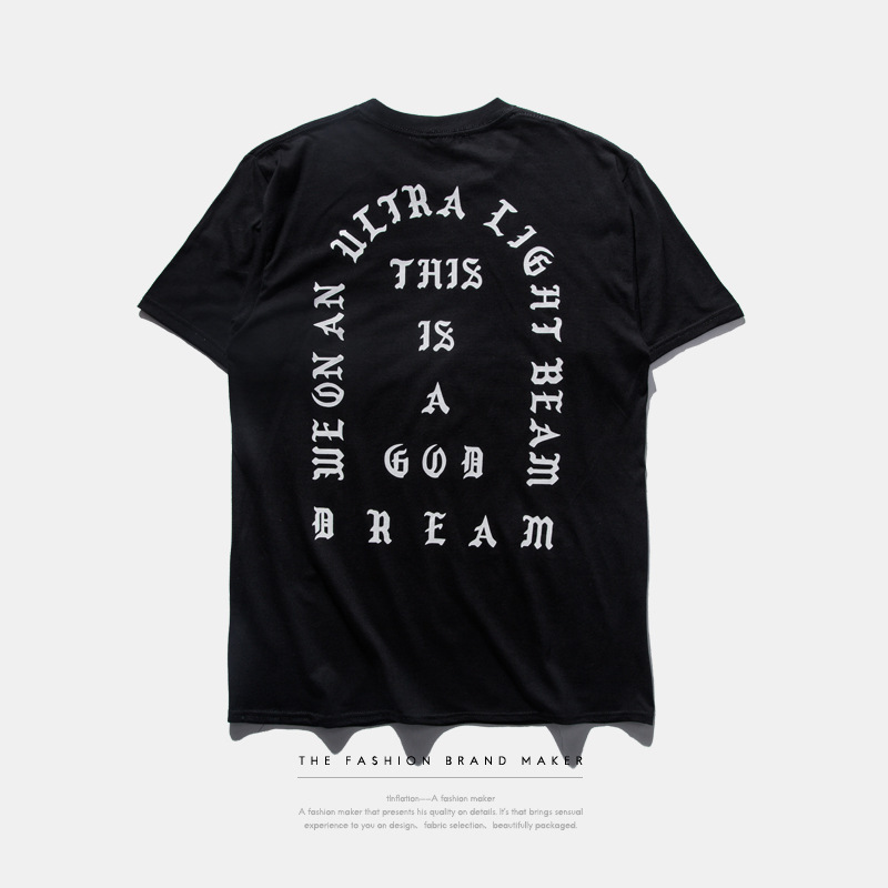 In the summer of 2016 American popular logo big talker kanye west hot style trichromatic popular logo mens t-shirts(China (Mainland))