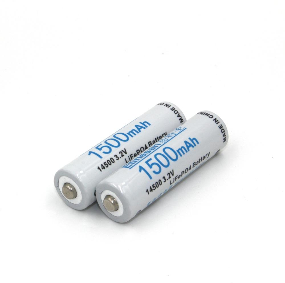 4 pcs lot Etinesan 1500mAh 14500 lifepo4 3 2v AA Rechargeable Battery instead of 1 5v