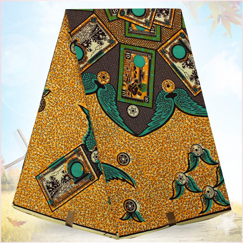 6yards/lot 100% cotton fabric African hollandais wax print fabric wholesale H1510371(China (Mainland))