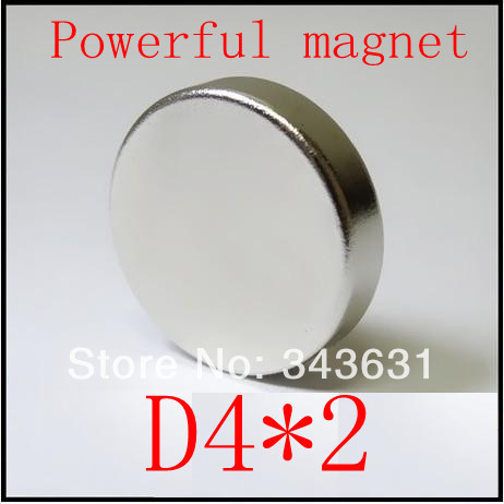 Free Shipping 100PCS 4*2mm Round  Super Powerful Strong Rare Earth Neodymium Disc Magnets<br><br>Aliexpress