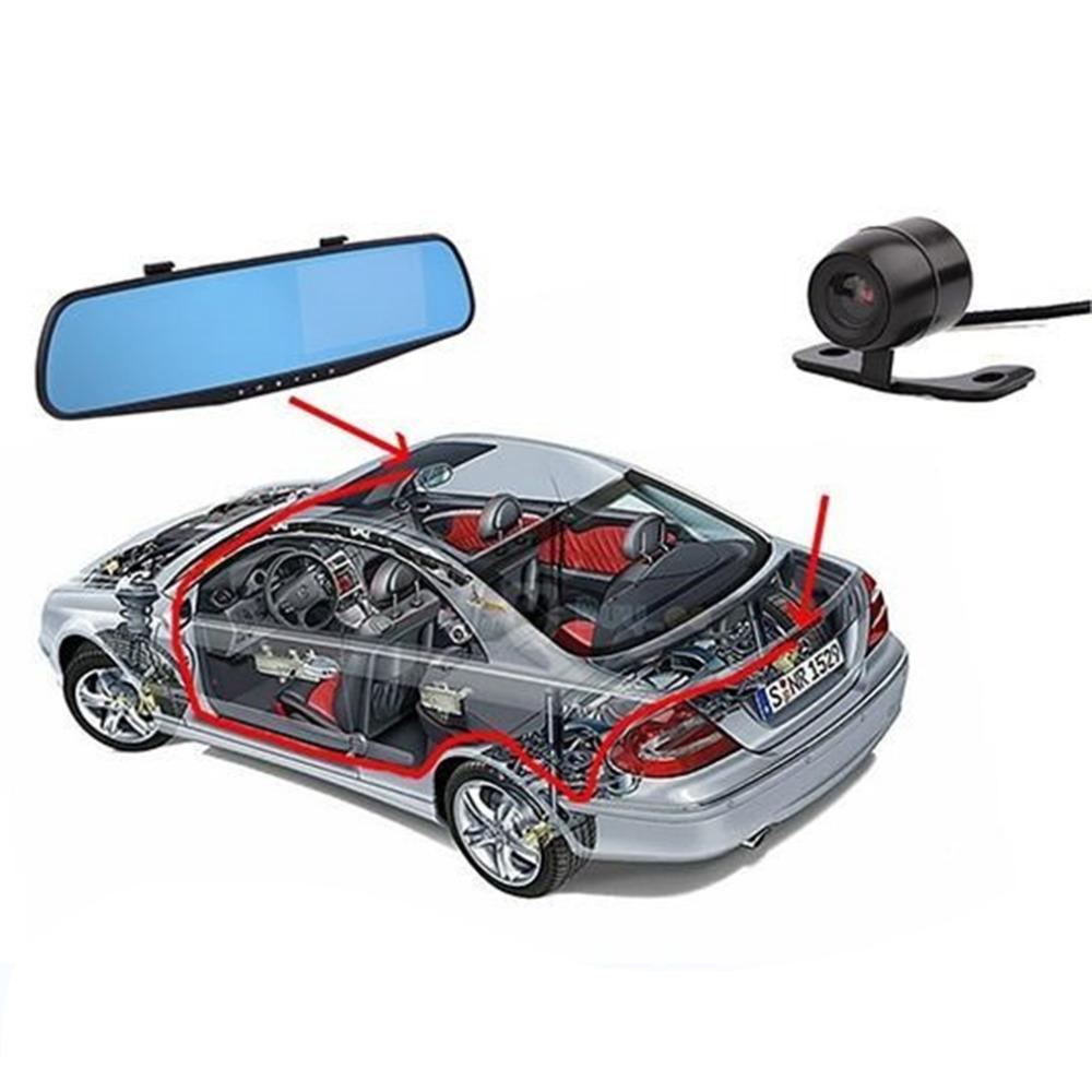 Dual lens car camera rearview mirror auto dvrs cars dvr parking video recorder registrator dash cam full  1080p night vision DVR