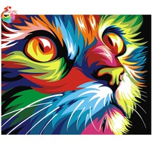 5D Diamond embroidery Animal diamond cross stitch Rubik's cube diamond painting Color Cat diy diamond painting mosaic kit(China (Mainland))