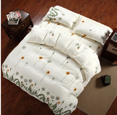Promotion !!!Free Shipping Reactive Printing BEDDING 4pcs Bedding Set duvet cover set queen king size QUILT COVER SET(China (Mainland))