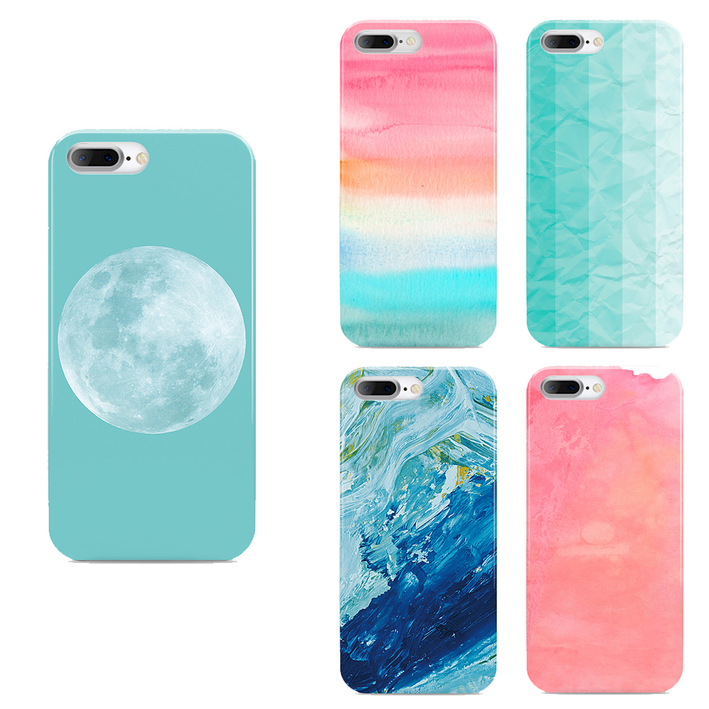 Ultra Thin Gradual Change Color Back Cases Cover Phone For Iphone 7 Case 4.7 Inch New Beautiful Anti-knock Soft Back Cover(China (Mainland))