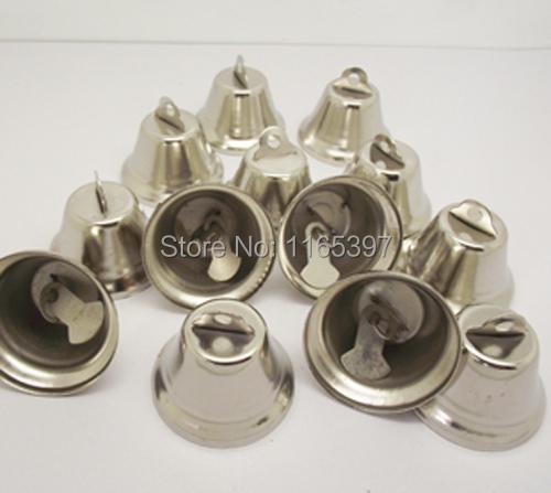 24pcs 25mm metal bell Christmas decoration bells polish gold silver color festive supplies Christmas cracker DIY crafts(China (Mainland))