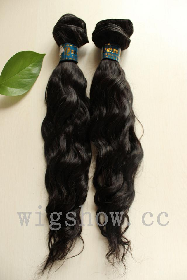 "2pcs/lot 3A Boutique Natural Wave Brazilian Hair Extensions 100% Real Hair Weft Mix Length 8""-34""(China (Mainland))"
