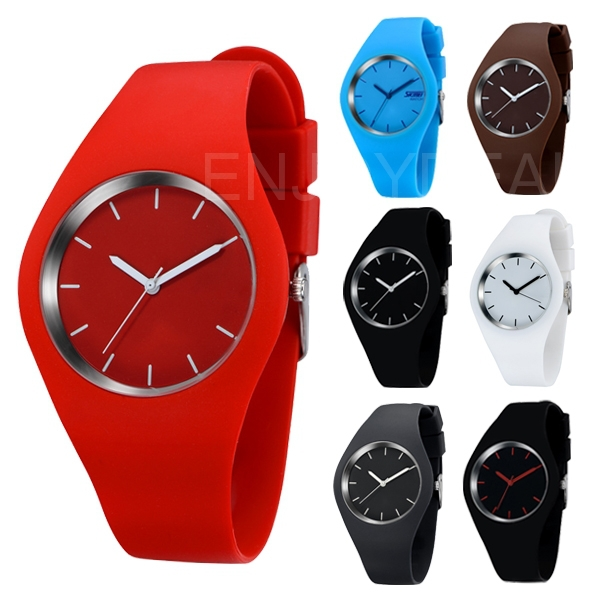 New Arrival Super Soft Jelly Silicone Quartz Wrist Watch Waterproof Casual Style Watch 2015 Free Shipping