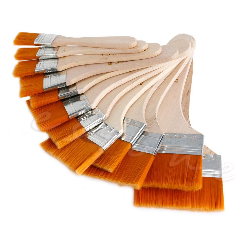 C18 New 12Pcs Wooden Painting Brush Artists Acrylic Oil Painting Tool Art Supply Set(China (Mainland))