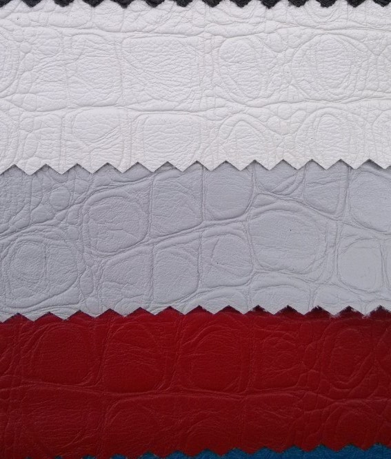 synthetic fabric garment clothe crocodile embossed leather material(China (Mainland))