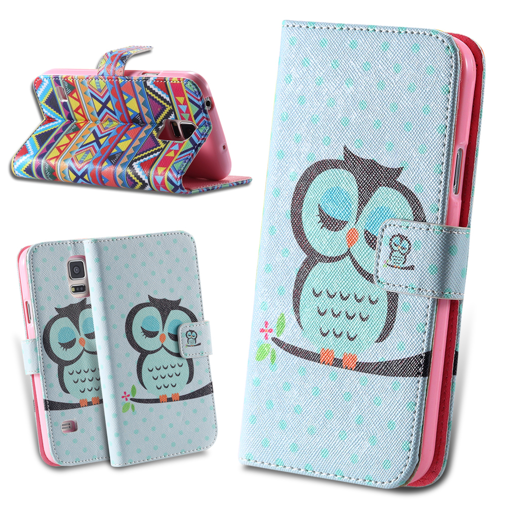 Owl Lovely Flip Leather Case for Samsung S3 SIII i9300 Wizard Bird Accessories Crown Cover Cute Cases for Galaxy S3 Wallet Stand(China (Mainland))
