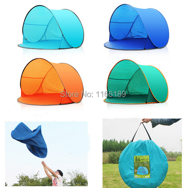 Automatic Pop Up 2 Person Beach UV sun shelter shade Outdoor Camping Tourism Folding Awnings Fishing waterproof canopy awning(China (Mainland))