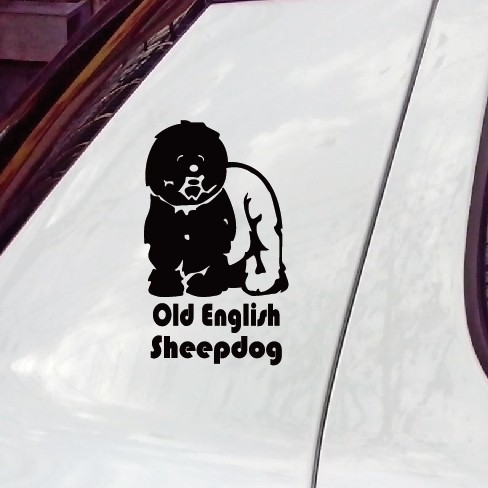 high quality old english sheepdog pet sticker for car window / the whole body car stickers decoration accessories(China (Mainland))