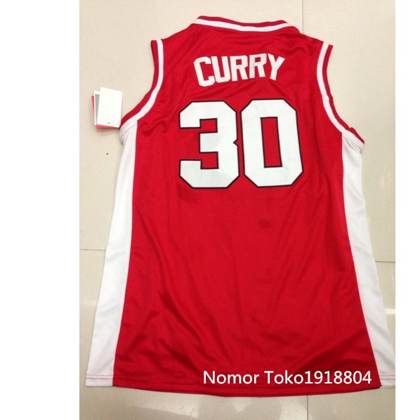 30 Dell Curry virginia tech basketball jersey, Red Steph Curry COLLEGE jersey, Customized any size, number and name sewn XXS-6XL(China (Mainland))