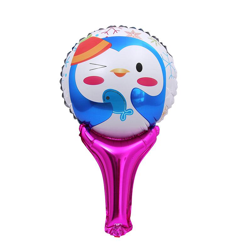 Magic handheld bar Cheers aluminum cartoon toy balloon activities children against cheering stick foil balloons(China (Mainland))