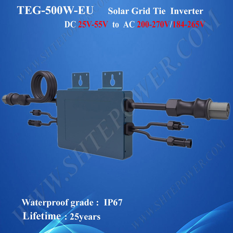 500W DC 22-50V To AC 220V 230V 240V Grid Tie Solar Waterproof Micro Inverter(China (Mainland))