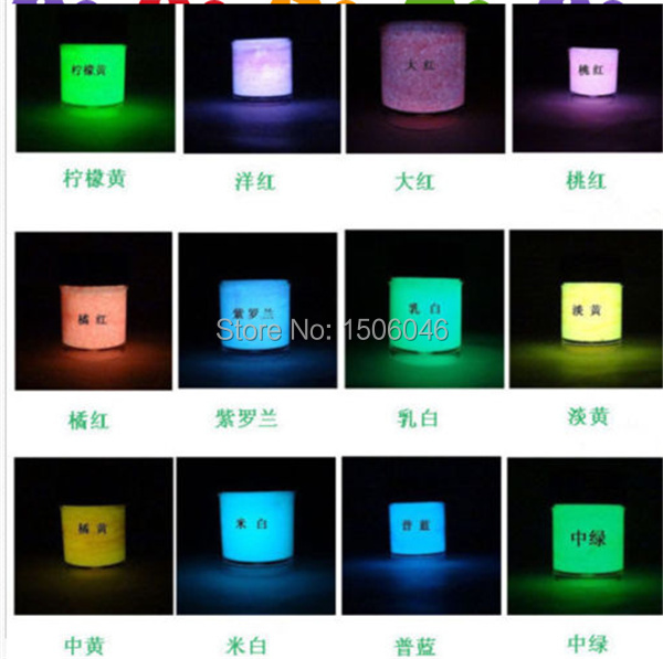 10ml Fluorescent Party Light DIY Glow Luminous Bright Paint Pigment 7 Color Hot Free Shipping(China (Mainland))
