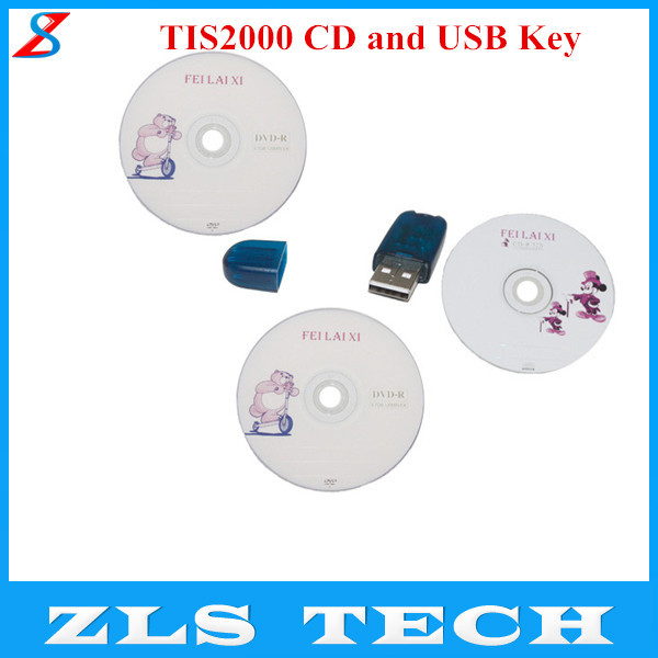 Best Quality TIS2000 CD and USB Key for GM TECH2 For GM Car Model Free Shipping(China (Mainland))