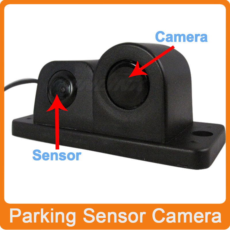 2 in 1 Newest Waterproof Car Parking Rear View Camera Parking Sensor Parking Assistance System Show Image Distance(China (Mainland))