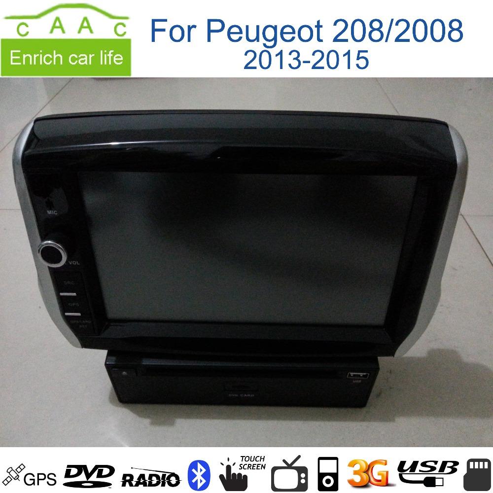 lecteur dvd de voiture 8 gps wince navigation pour peugeot 208 2008 2013 15 avec bluetooth. Black Bedroom Furniture Sets. Home Design Ideas